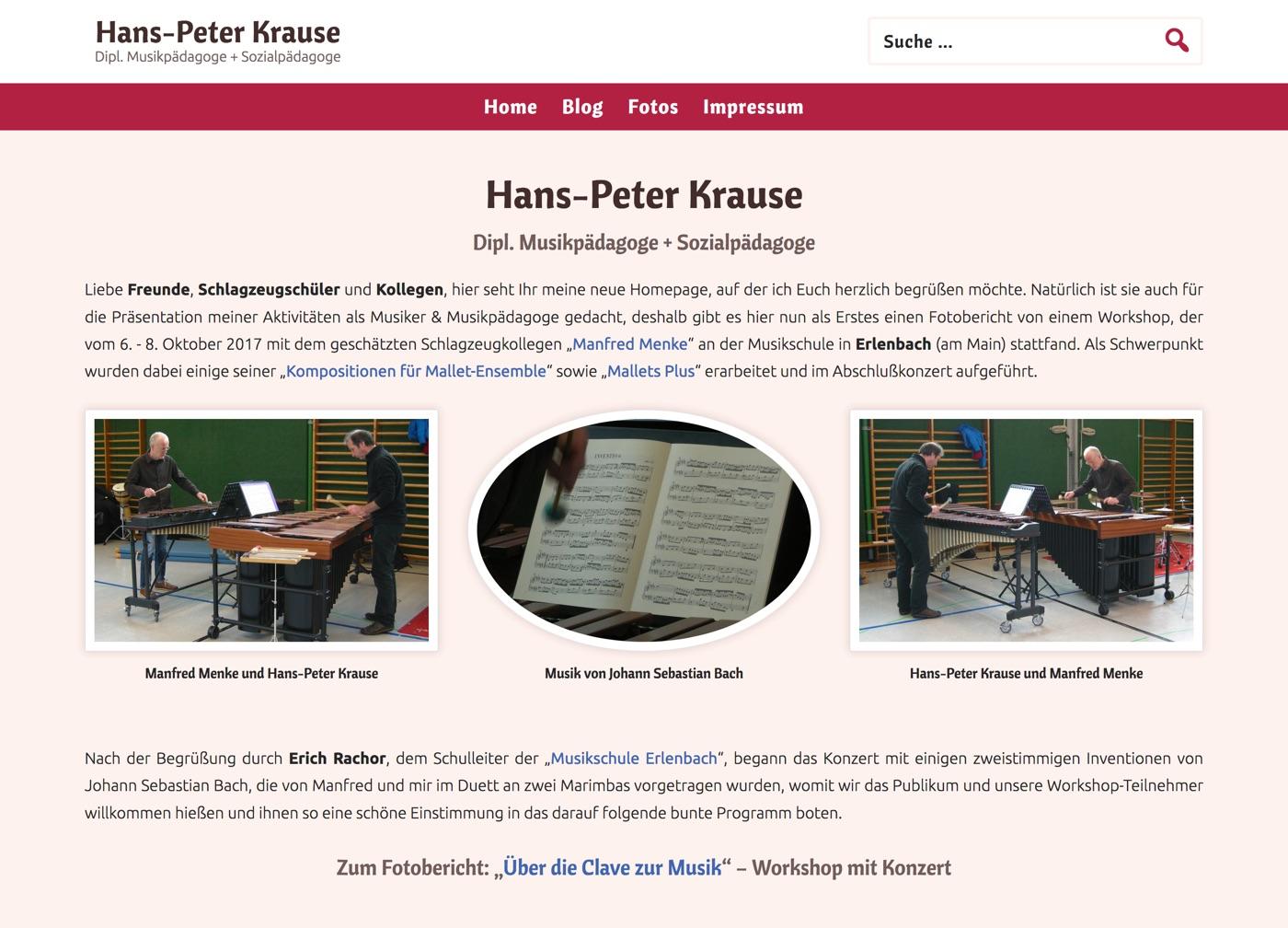 Bildschirmfoto // HP Krause am 28. Oktober 2017