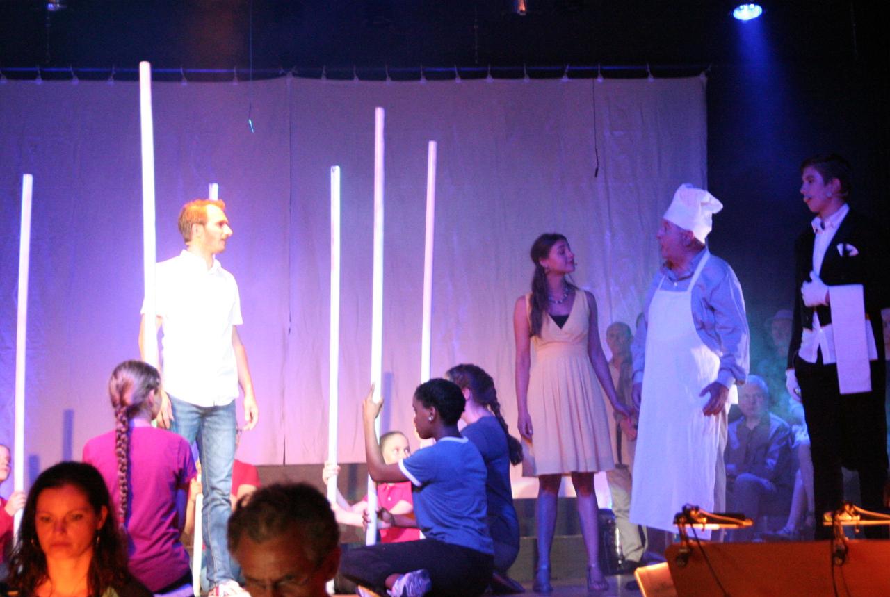 Joseph deutet im Gefängnis die Träume eines Bäckers und eines Dieners