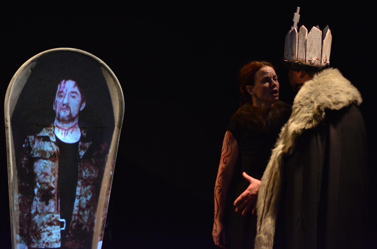 Banquo erscheint dem Macbeth beim Hoffest
