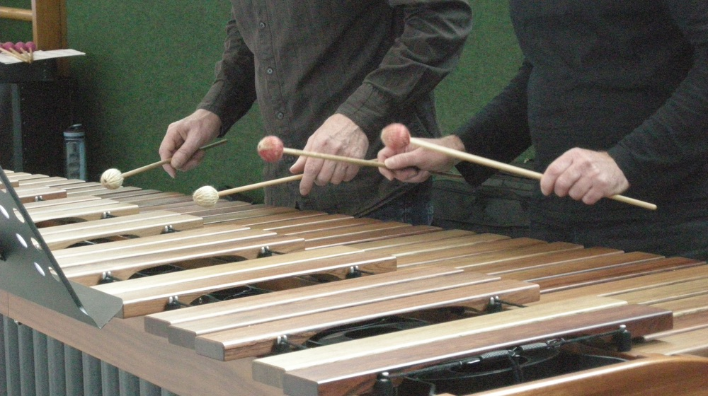 "Marimba-Duo · ""Ein Faultier unter Stress"""